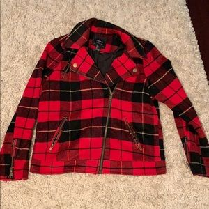 forever 21 plaid jacket size L